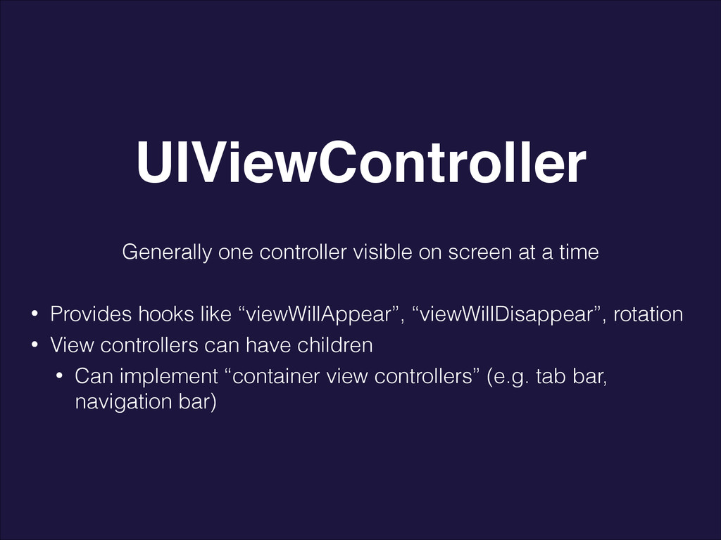 Generally one controller visible on screen at a...