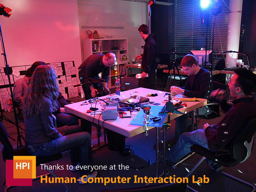 Human-Computer Interaction Lab Thanks to everyo...