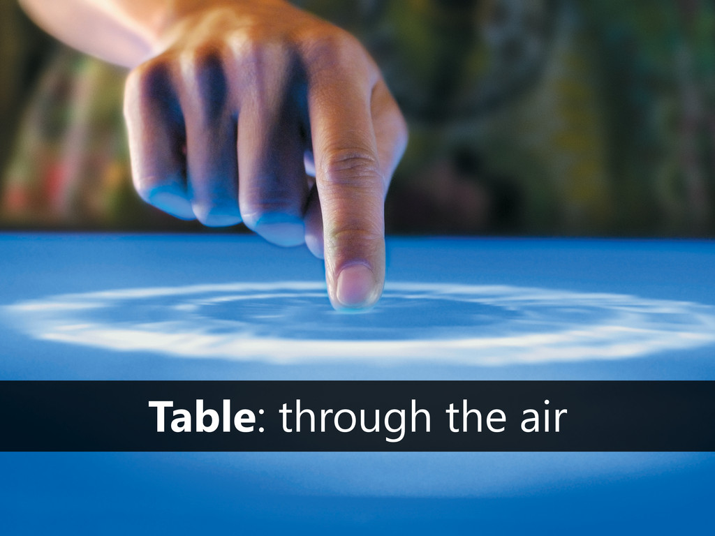 Table: through the air