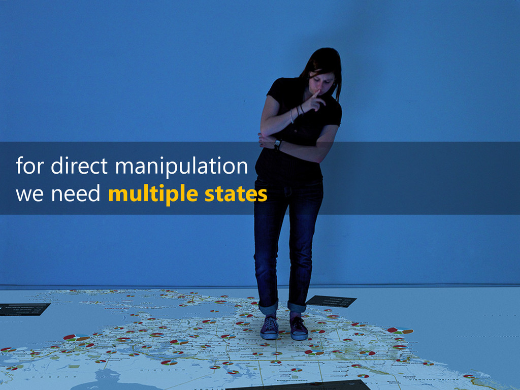 for direct manipulation we need multiple states