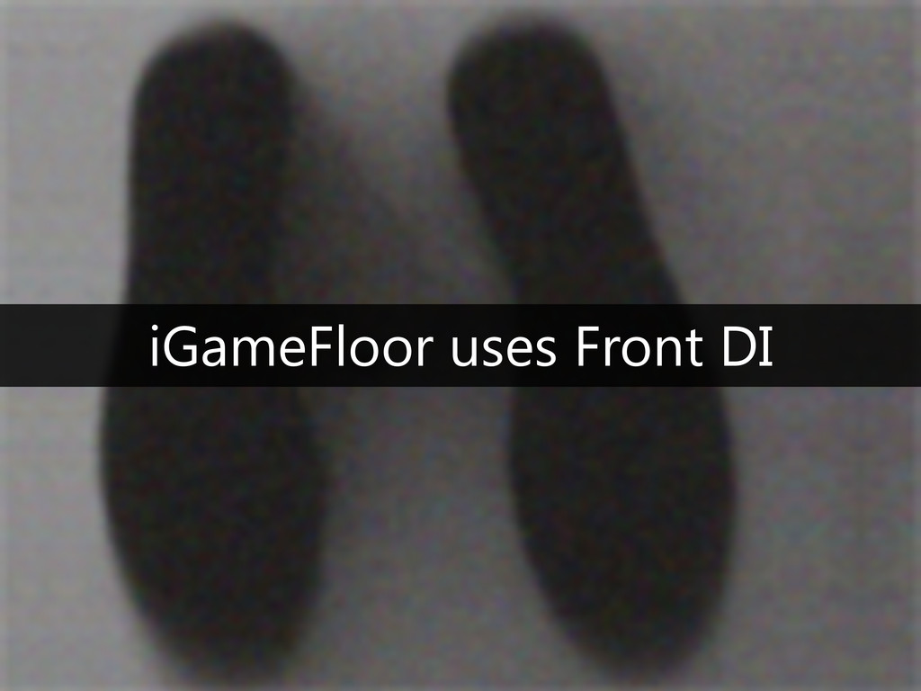 iGameFloor uses Front DI