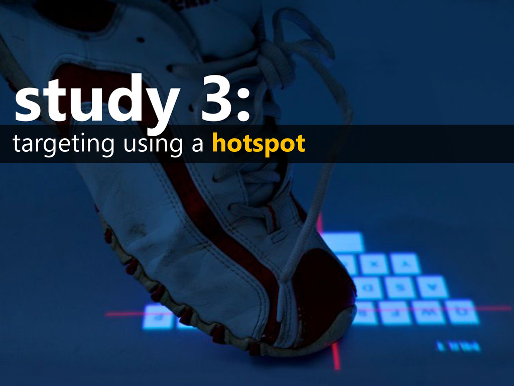 targeting using a hotspot study 3: