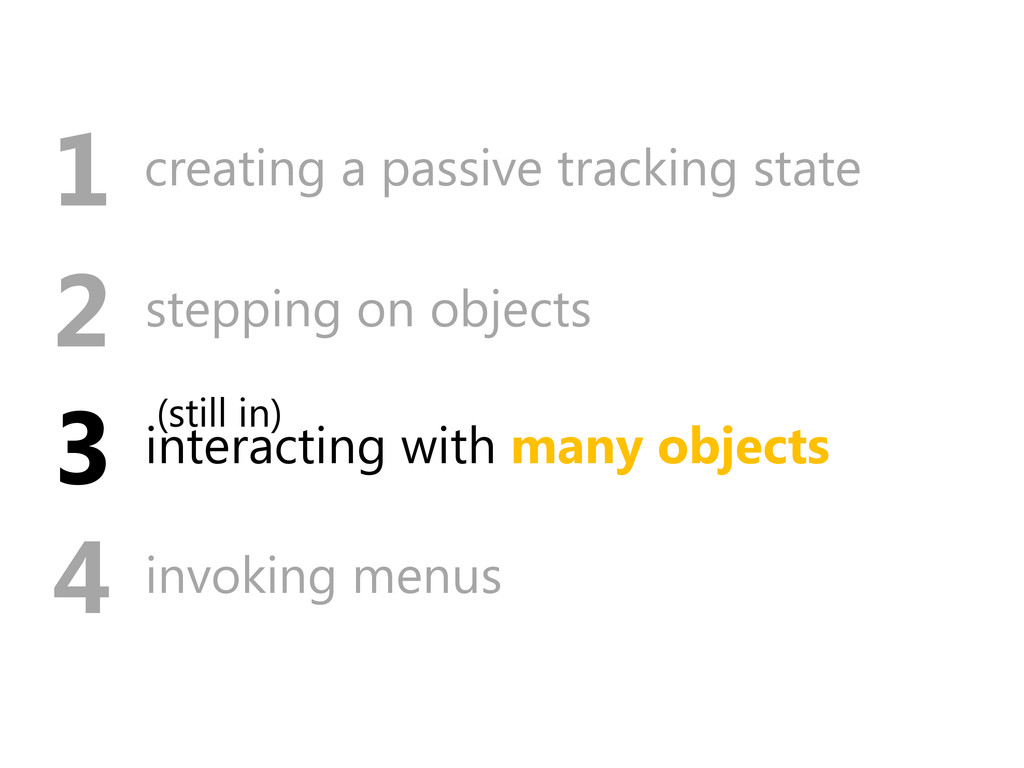 interacting with many objects 3 stepping on obj...