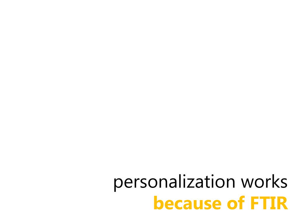 personalization works