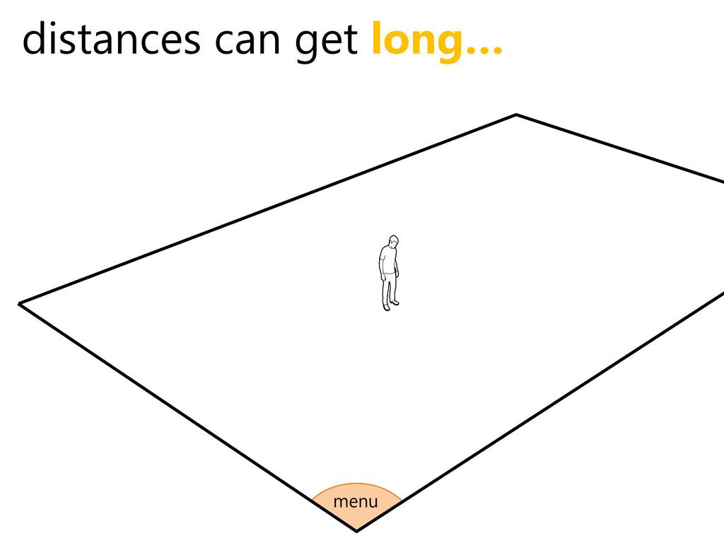 distances can get long… menu