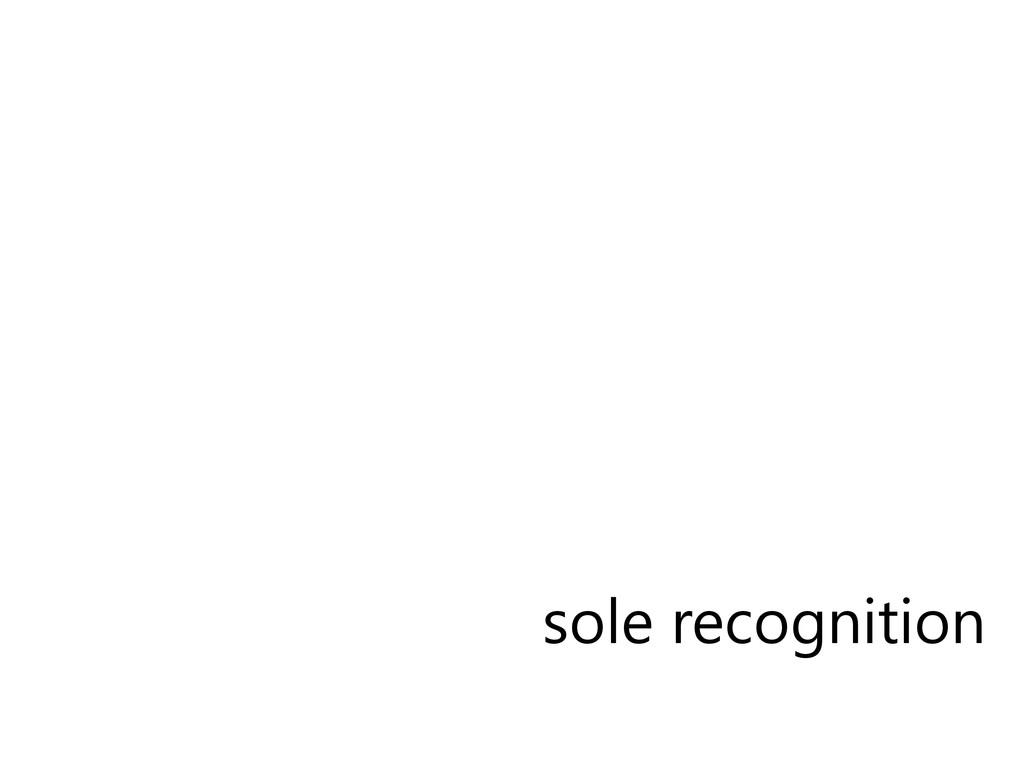 sole recognition