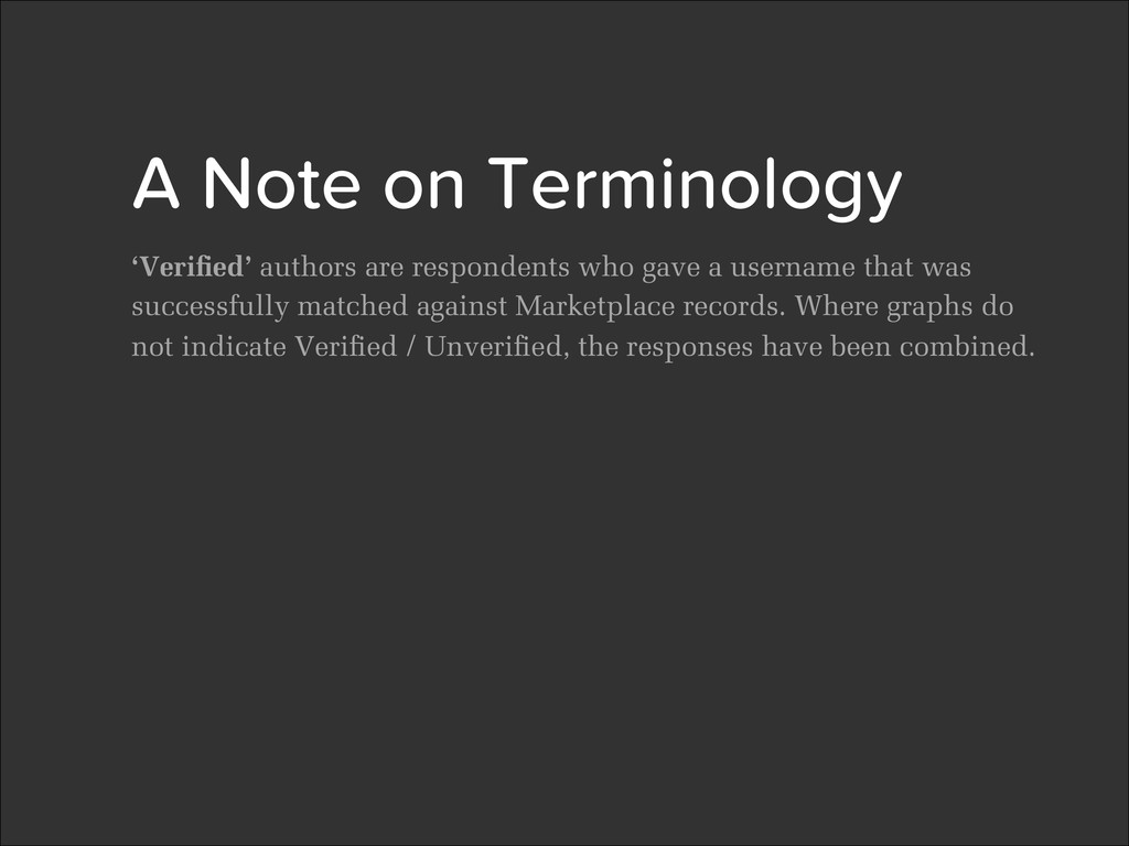 2 A Note on Terminology
