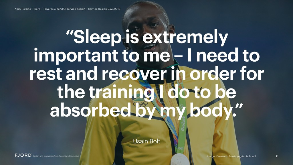 """Sleep is extremely important to me – I need to..."
