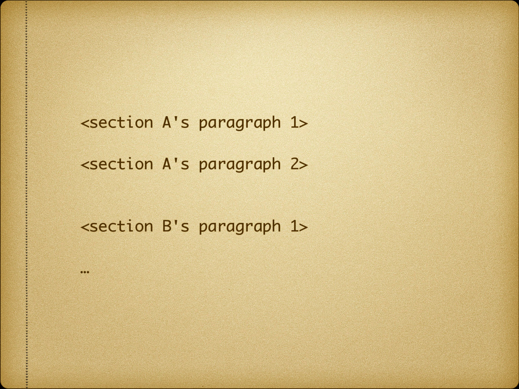 <section A's paragraph 1>