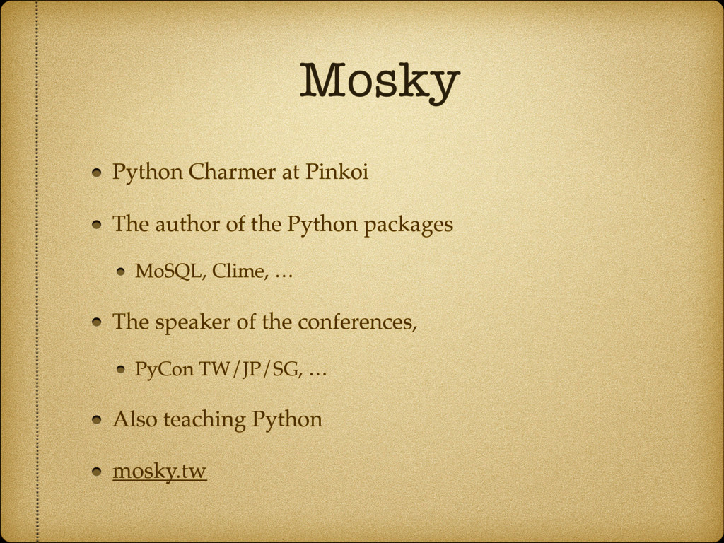 Mosky Python Charmer at Pinkoi The author of th...