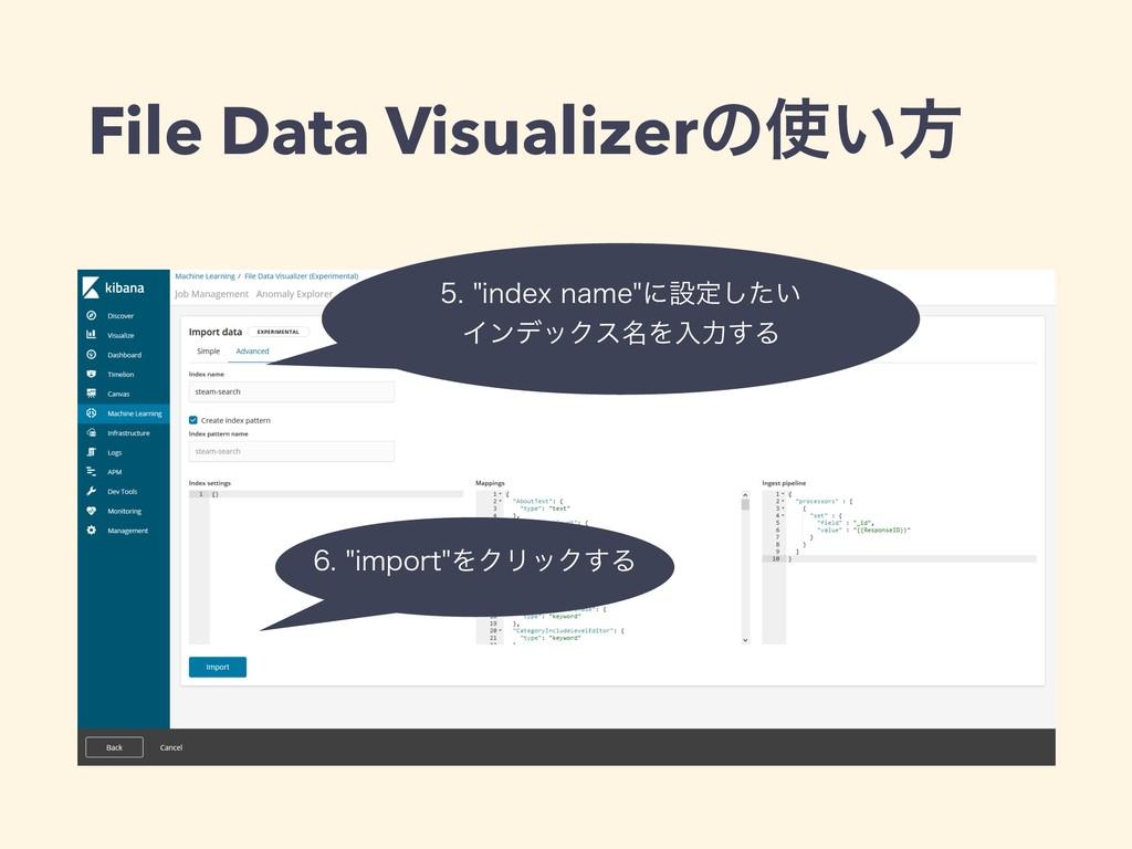 File Data Visualizerͷ͍ํ JOEFYOBNFʹઃఆ͍ͨ͠...