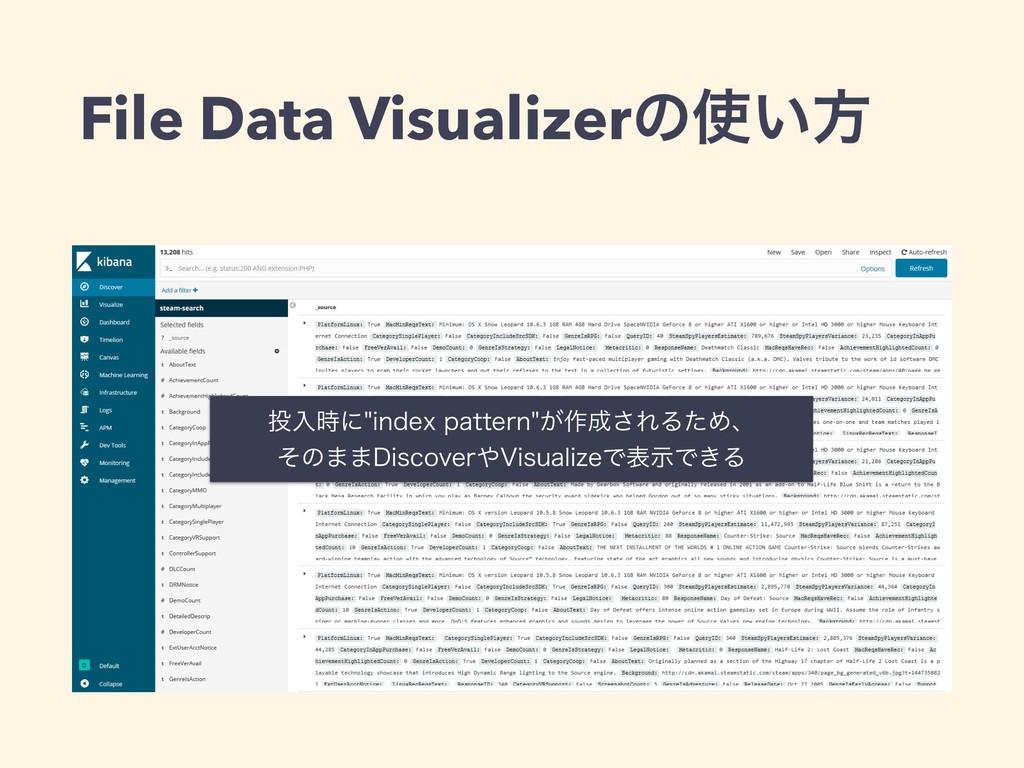 File Data Visualizerͷ͍ํ ೖʹJOEFYQBUUFSO͕࡞...