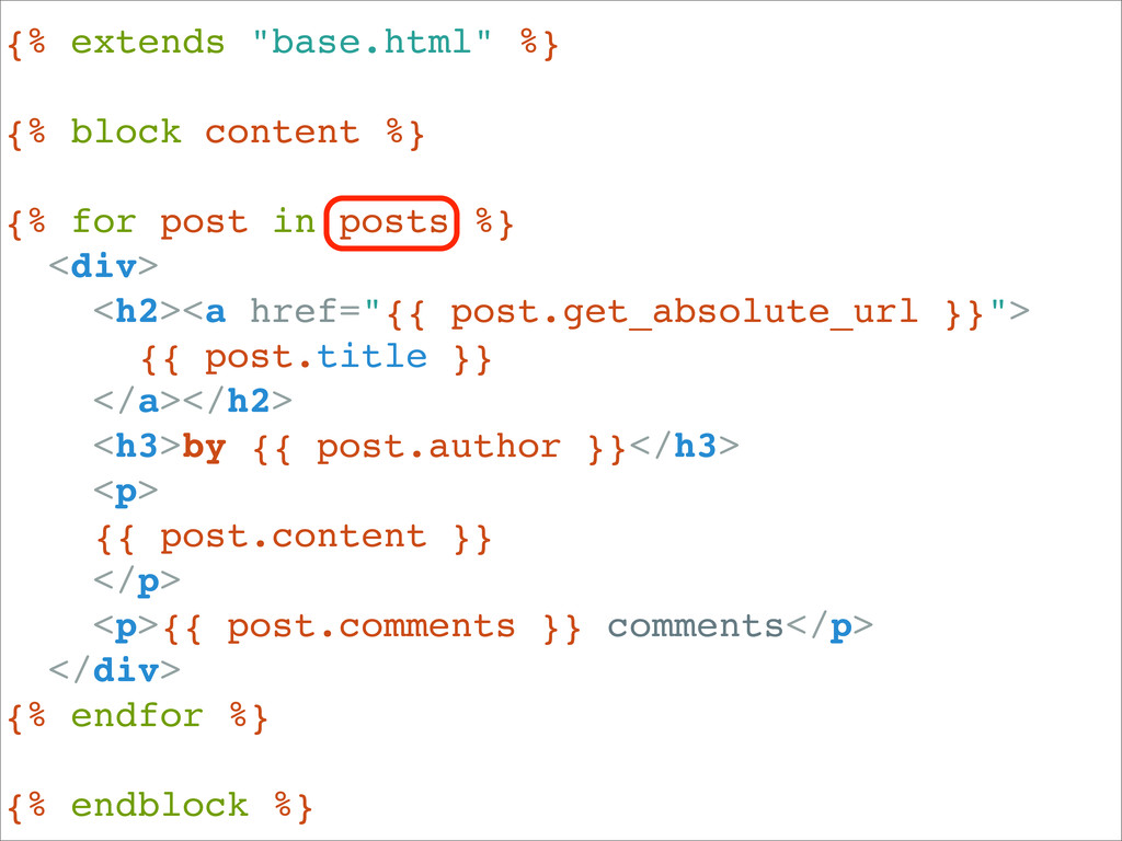 "{% extends ""base.html"" %} {% block content %} {..."