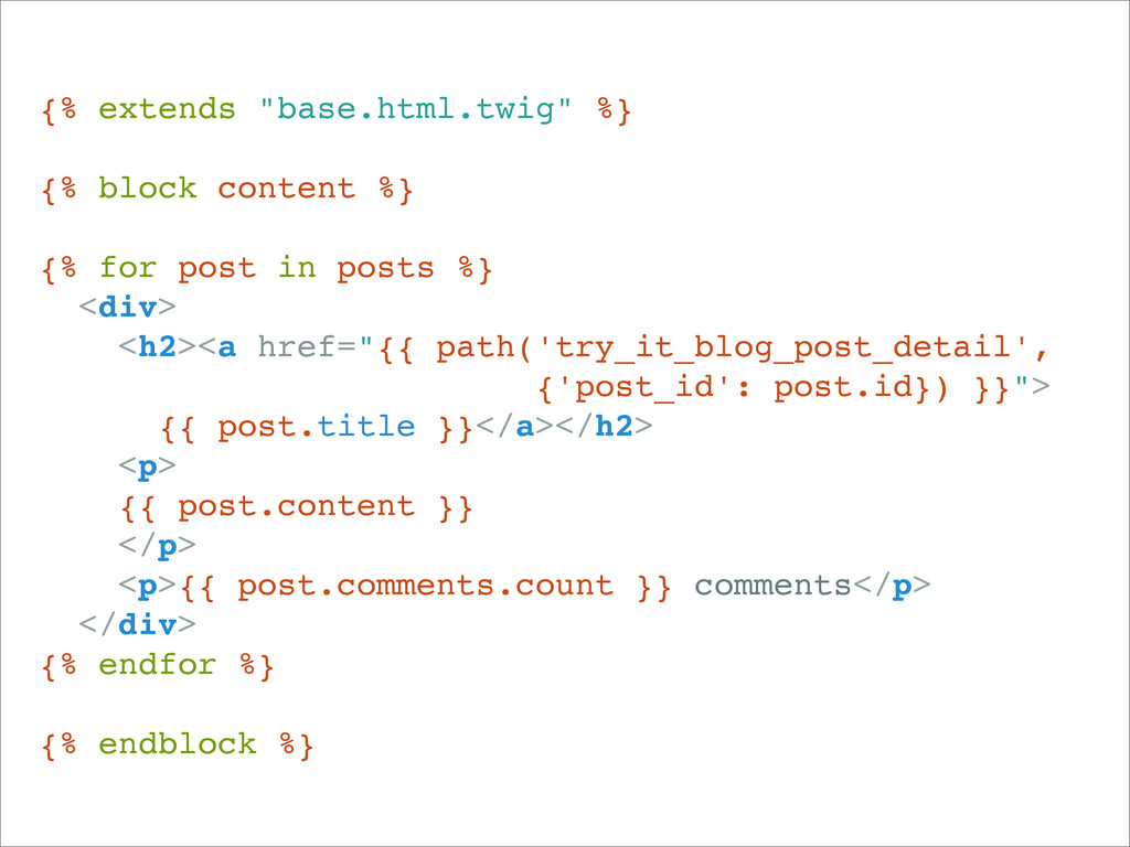 """{% extends """"base.html.twig"""" %} {% block content..."""
