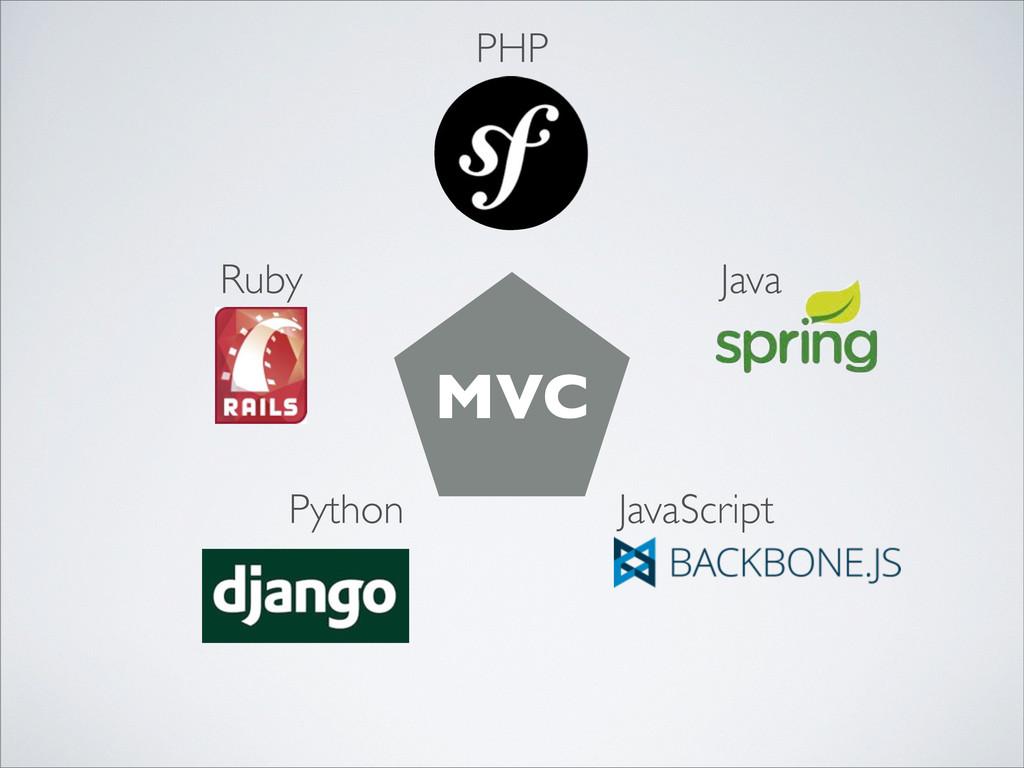 PHP Python Ruby Java JavaScript MVC