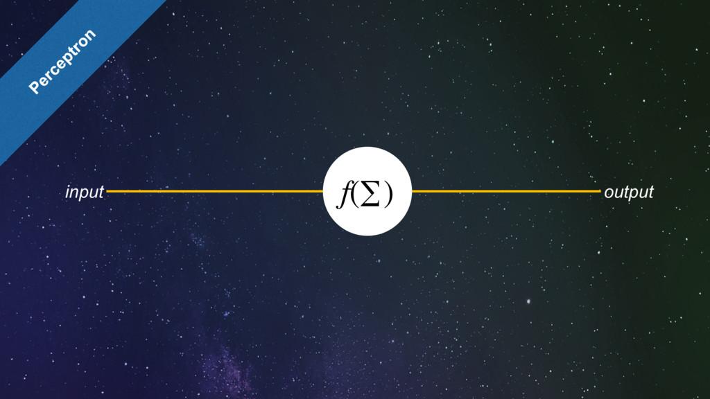 f(∑) input output