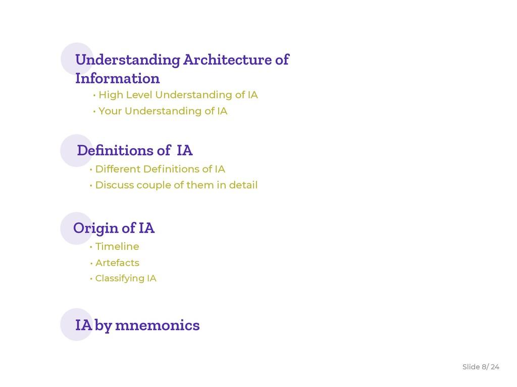 Slide / 24 8 Understanding Architecture of Info...