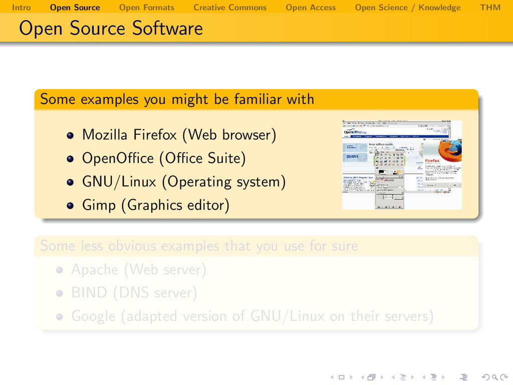 Intro Open Source Open Formats Creative Commons...