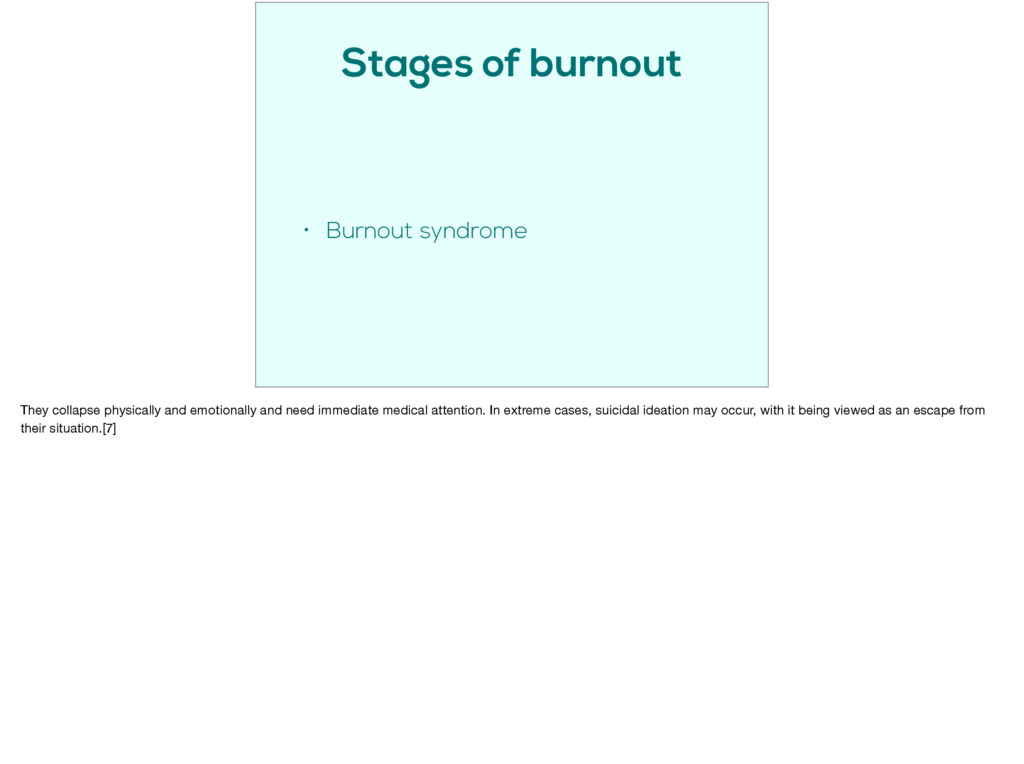 Stages of burnout • Burnout syndrome They colla...