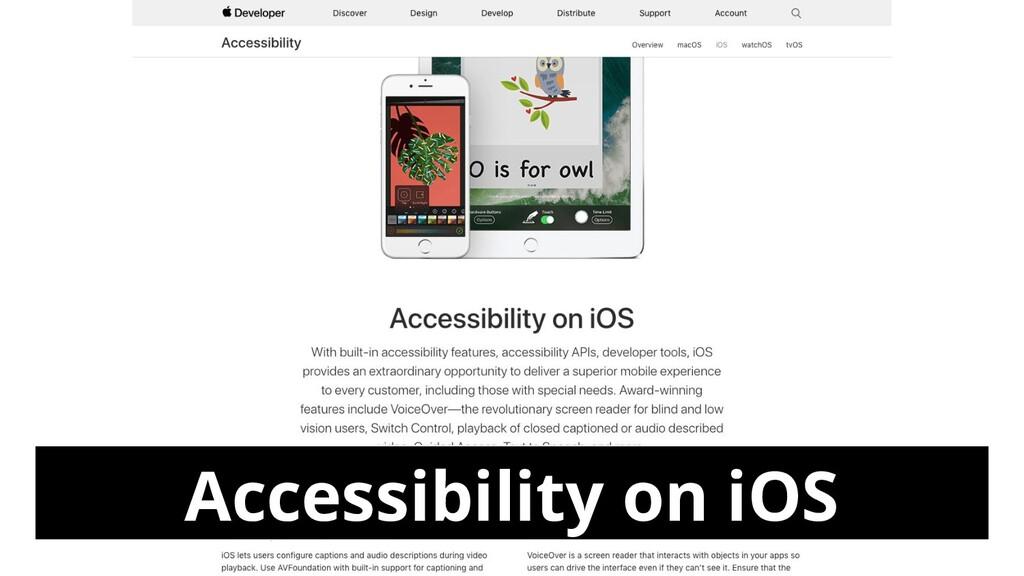 Accessibility on iOS