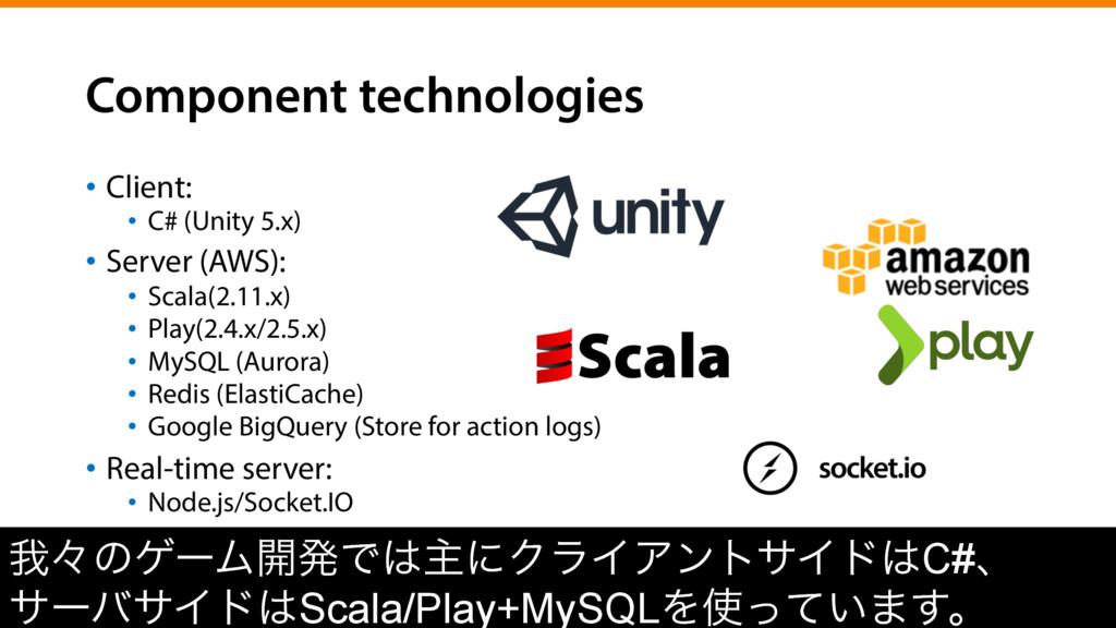 Component technologies • Client: • C# (Unity ...