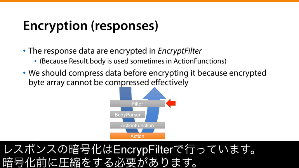 Encryption (responses) •  The response data are...