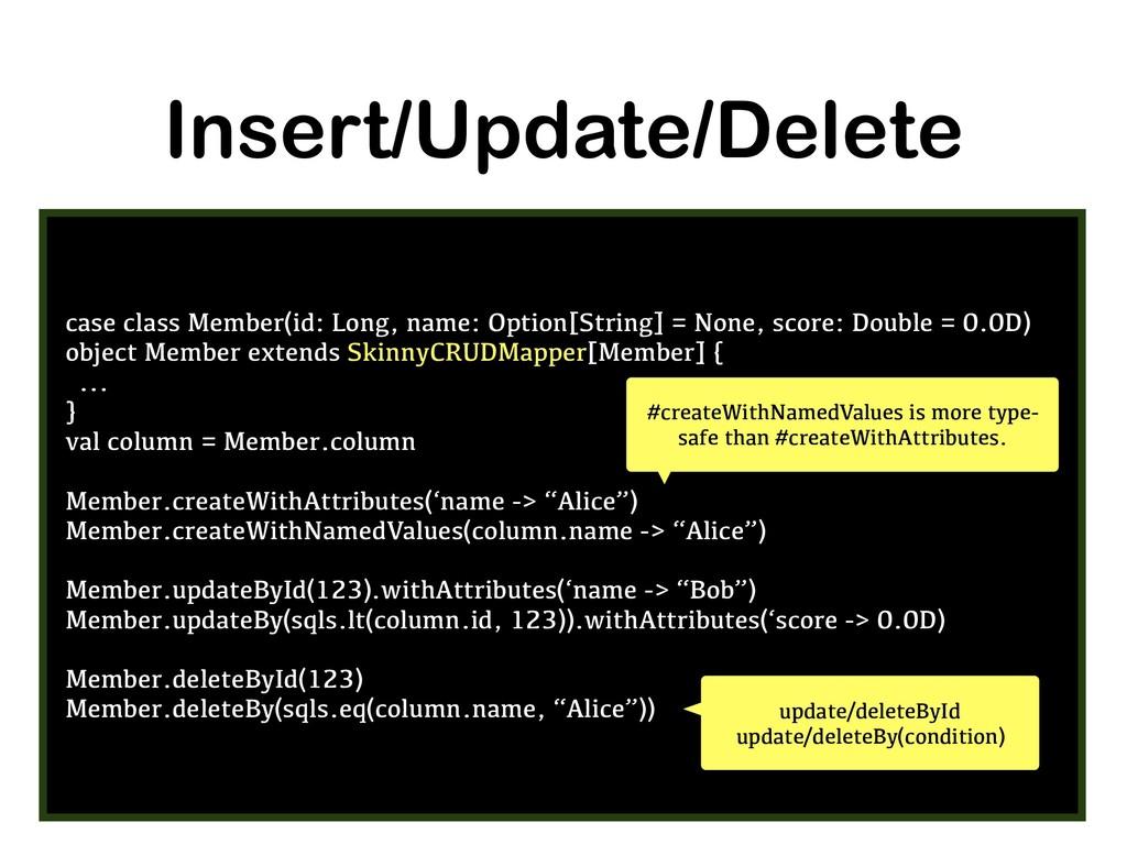 Insert/Update/Delete case class Member(id: Long...