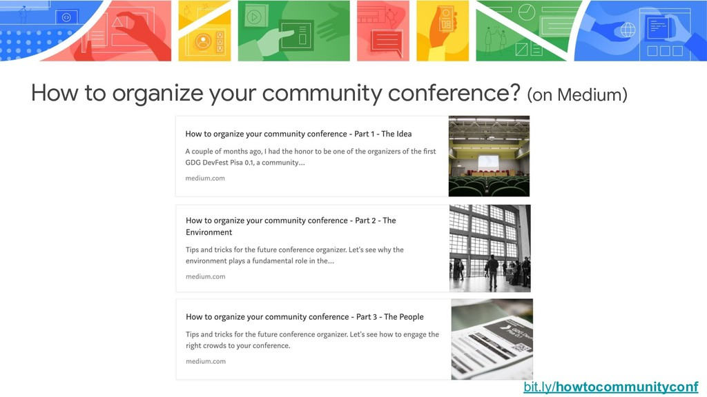 How to organize your community conference? (on ...