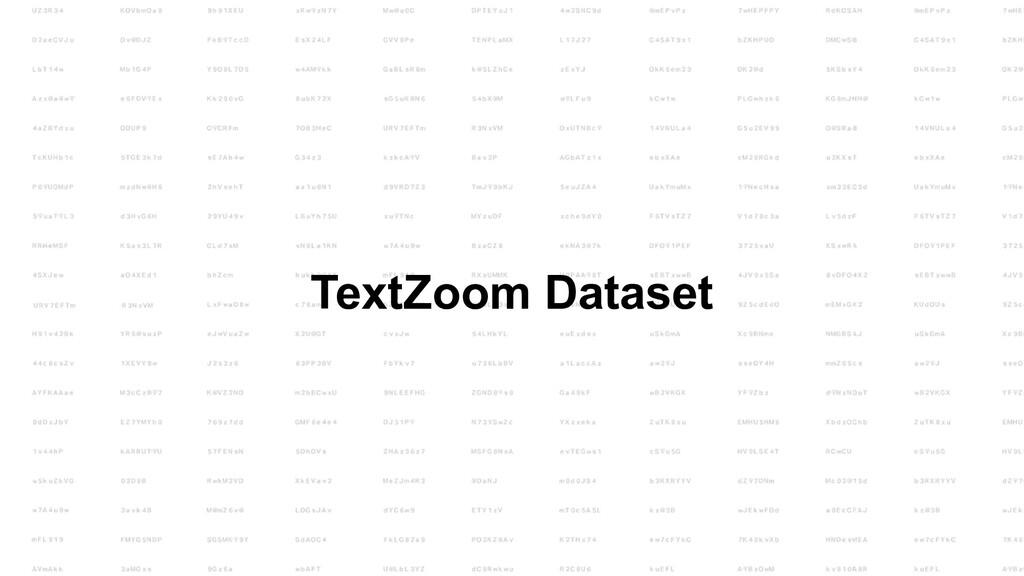 TextZoom Dataset