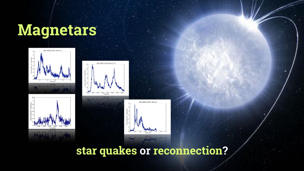 star quakes or reconnection? Magnetars