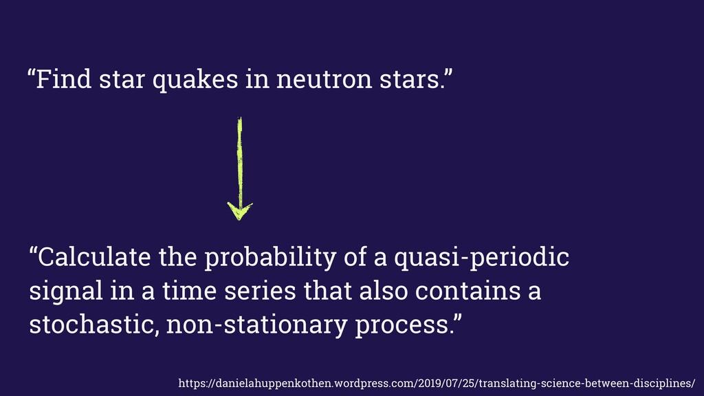 """Find star quakes in neutron stars."" ""Calculate..."