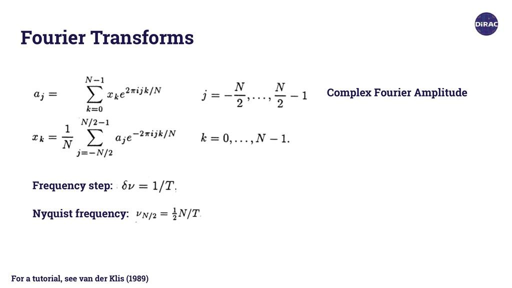 Fourier Transforms Complex Fourier Amplitude Fr...