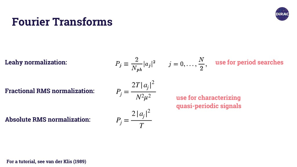 Fourier Transforms Leahy normalization: Fractio...