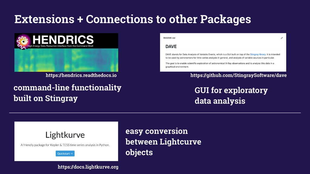 Extensions + Connections to other Packages comm...