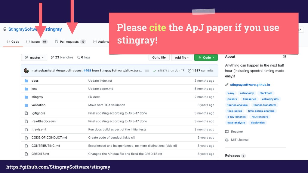 Please cite the ApJ paper if you use stingray! ...