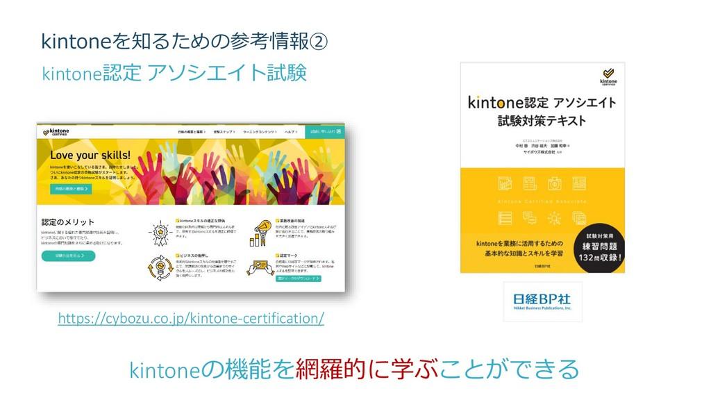 kintoneを知るための参考情報② https://cybozu.co.jp/kintone...