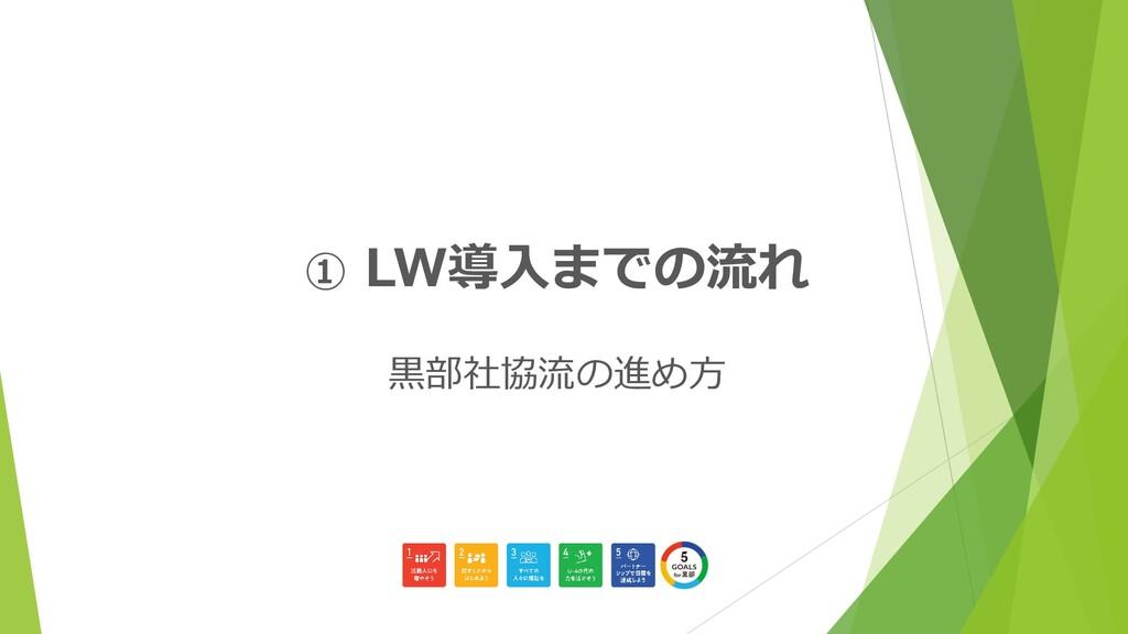 ① LW導入までの流れ 黒部社協流の進め方