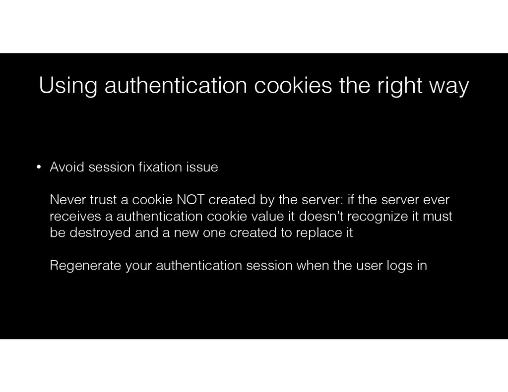 Using authentication cookies the right way • Av...