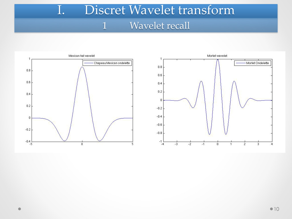 I. Discret Wavelet transform     10...