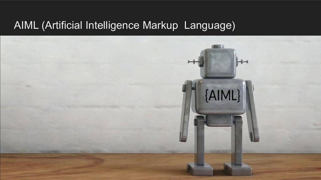 AIML (Artificial Intelligence Markup Language)