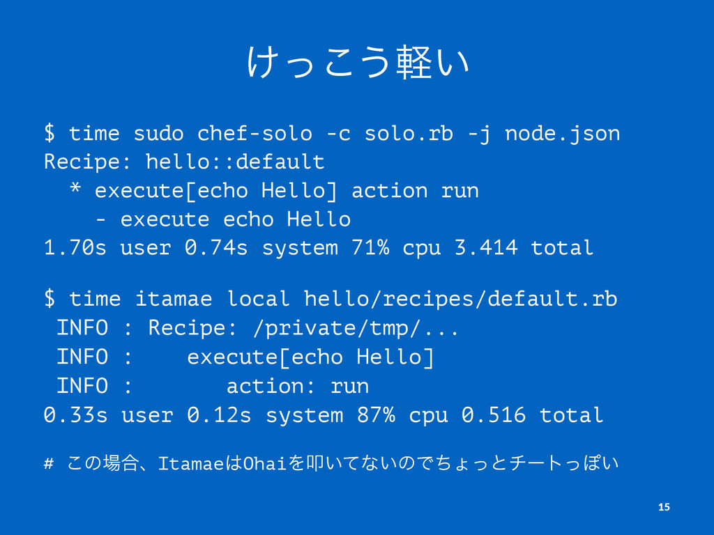 ͚ͬ͜͏͍ܰ $ time sudo chef-solo -c solo.rb -j node...