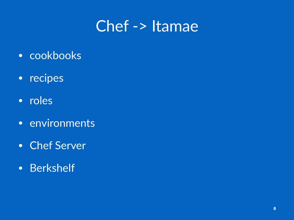 Chef%&>%Itamae • cookbooks • recipes • roles • ...