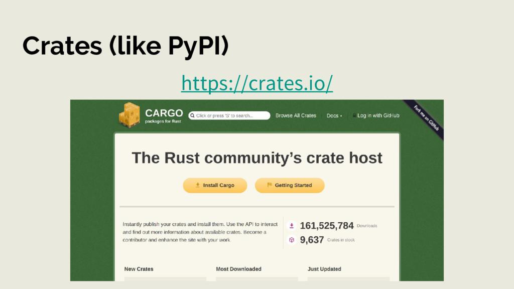 Crates (like PyPI) https://crates.io/