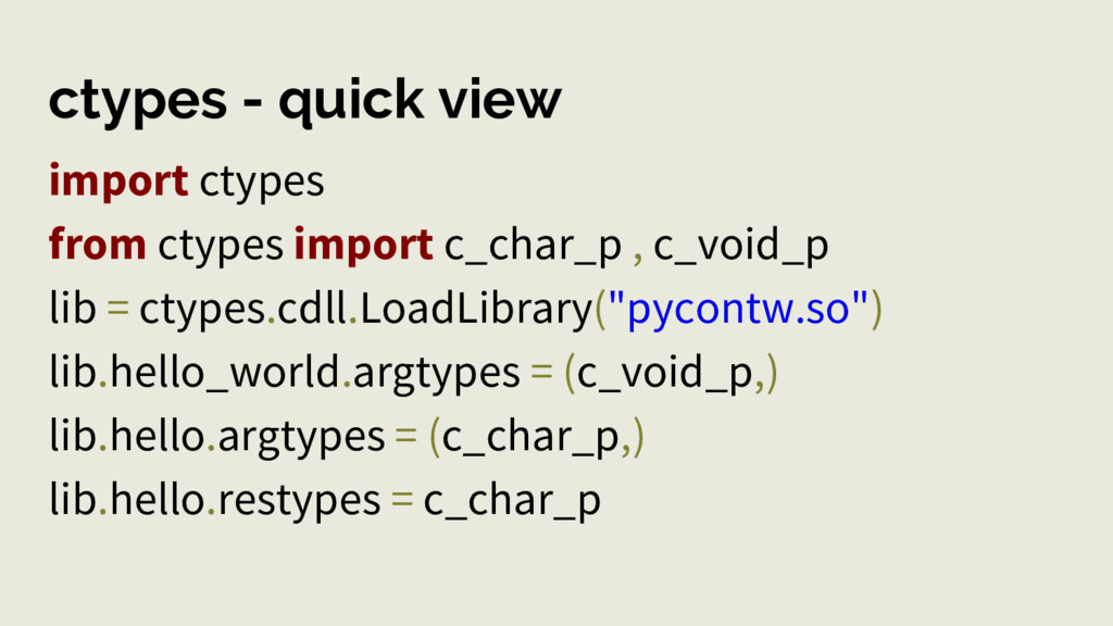 ctypes - quick view import ctypes from ctypes i...