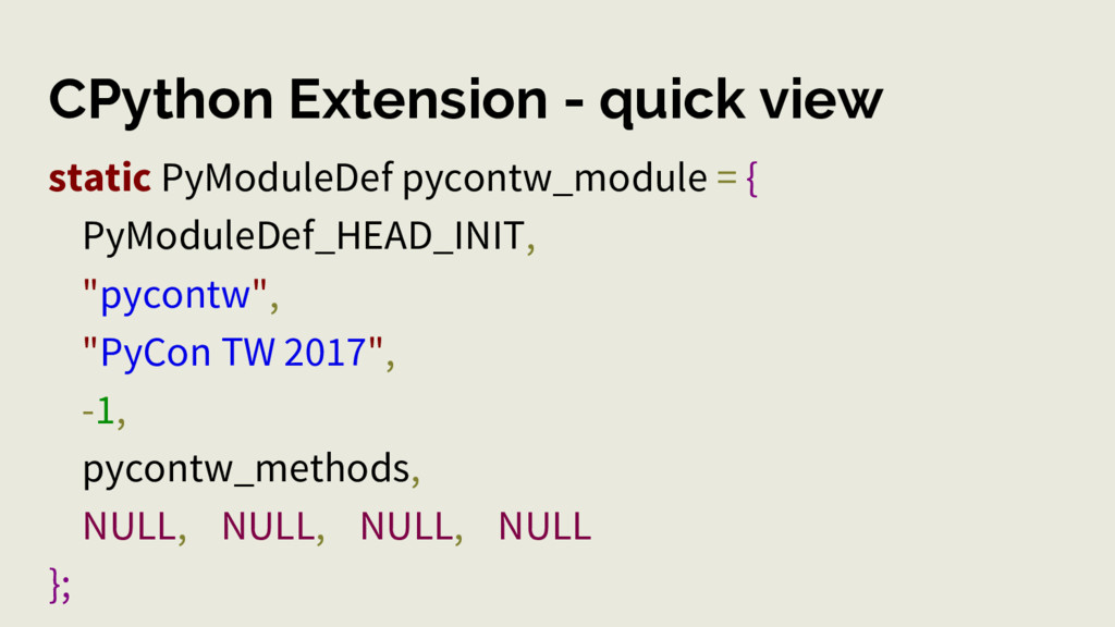 CPython Extension - quick view static PyModuleD...