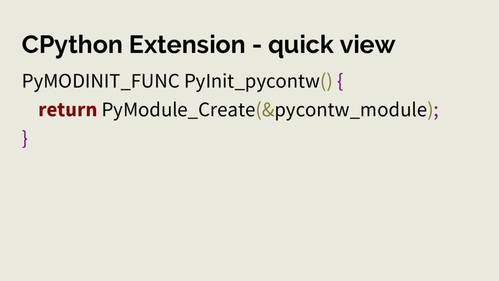 CPython Extension - quick view PyMODINIT_FUNC P...