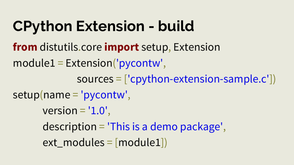 CPython Extension - build from distutils.core i...