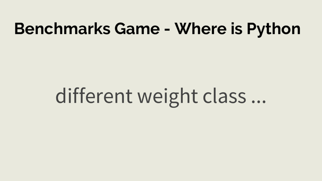 Benchmarks Game - Where is Python different wei...