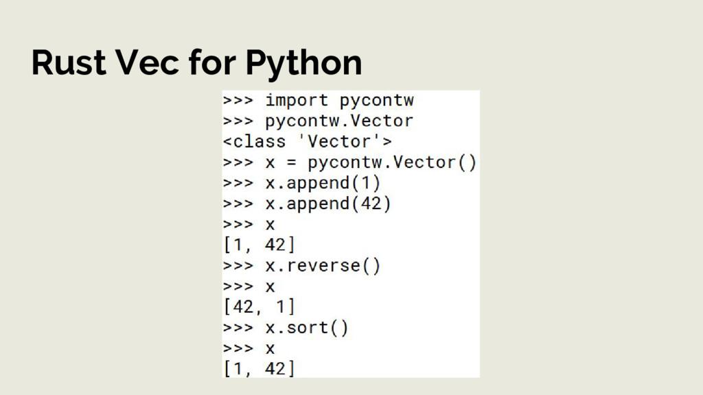 Rust Vec for Python