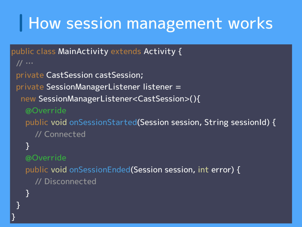 How session management works public class MainA...